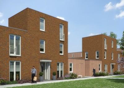 Conceptmatig bouwen met het flexibele toplan systeem - Exterieur ingang eigentijds huis ...