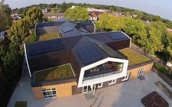zonnepanelen op de frisse school