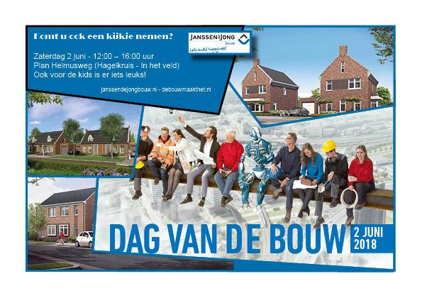 Janssen de Jong opent bouwplaats Helmusweg Hout-Blerick tijdens Dag van de Bouw