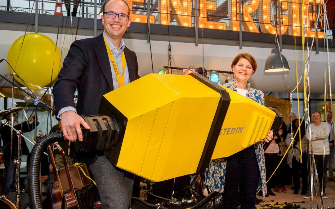 Janssen de Jong Bouw en Koninklijke Woudenberg verduurzamen Delfts regiokantoor Stedin