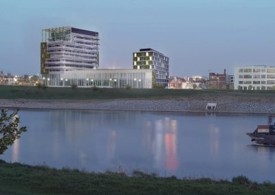 Circulair woongebouw en stadswoningen Maaswaard Venlo